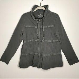 Neon Buddha Gray Tiered Cotton Jacket